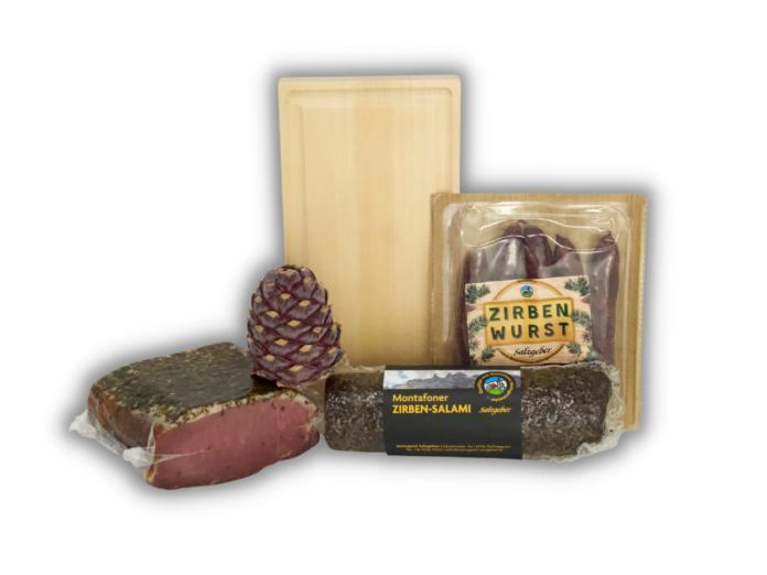 Zirben-Probierpaket (+ gratis Jausenbrett aus Zirbenholz!)